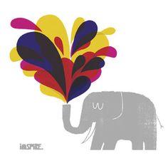 adrian johnson ltd Elephant Illustration, Heart Illustration, Illustration Styles, Adrian Johnson, Elephant Logo, Awareness Ribbons, Graphic Design Posters, Pretty Pictures, Illustrators