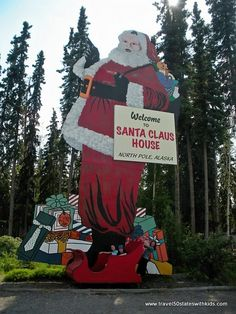 You can't miss the giant Santa figures outside.  This Santa is 40 feet tall.