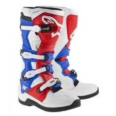 Alpinestars Tech 5 - 2015 MX Boots White / Red / Blue - V1MX