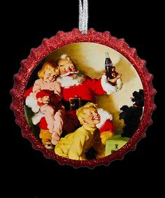Look what I found on #zulily! Santa & Kids Coca-Cola Ornament #zulilyfinds