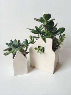 Little Ceramic House Duo by ValpoStudio on Etsy
