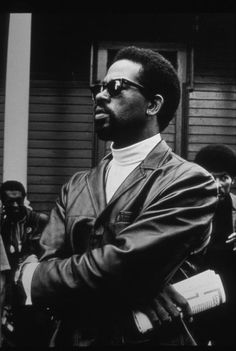 """Eldridge Cleaver, Free Huey Rally, Bobby Hutton Memorial Park, Oakland, 25.08.1968  """"You don't have to teach people how to be human. You have to teach them how to stop being inhuman."""""""