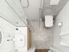 Tiny Bathrooms, Simple Bathroom, Toilet, Sweet Home, New Homes, Bathtub, Shower, House, Interiors