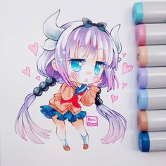 Color sketch for Kanna