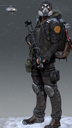 The Division Agent Survival Guide Jedi Rudil Character Concept, Character Art, Concept Art, Post Apocalypse, Apocalypse Armor, Punisher, Tom Clancy The Division, Future Soldier, Military Gear