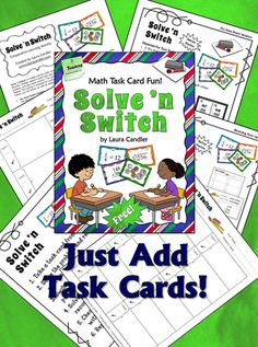 Free! Solve 'n Switch - Task Card Partner Fun! - Cooperative learning partner activity to use with task cards. Find out where to download this free packet that includes complete directions and recording pages.