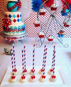 - Circus / carnival cake pops