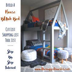 Build a House Bed, Bunk Bed Loft Bed, DIY Bed