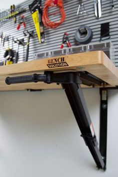 Folding Garage Workbench | Space Saving Ideas | Bench Solution More
