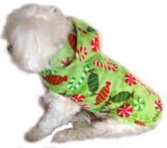 Christmas Dog Sweater Extra Small Holiday by whirlydogsupplies