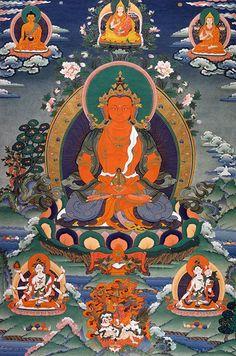 Amitayus, el Buda de la longevidad, sabiduría y méritos.