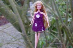 Puppenkleidung - Minikleid mit  Spiegelpailetten *** für Barbie  - ein Designerstück von Sabisilke bei DaWanda