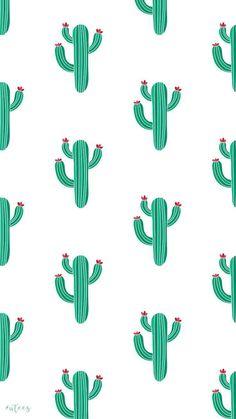 Hintergrundbilder ♡ Cactus Wallpaper Design I Made by University Tees Design Team - Iphone Wallpaper Vsco, Cute Wallpaper For Phone, Summer Wallpaper, Cute Patterns Wallpaper, Iphone Background Wallpaper, Pastel Wallpaper, Aesthetic Iphone Wallpaper, Galaxy Wallpaper, Disney Wallpaper
