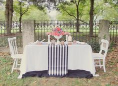 #Pink #Black and White and #bows, styled by @Shanna Jestice of Ruffles & Rouge Events.