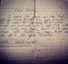 Little Girl's Breakup Note - 15 Most Absurd Breakup Letters Ever - The Hollywood Gossip
