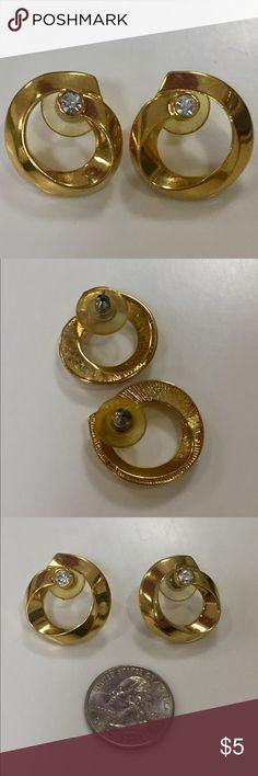 Vintage rhinestone earrings Great condition Vintage Jewelry Earrings