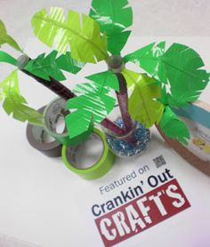 Ideas and Inspirations: Crankin' Out Crafts Episode 105 – Duct Tape Palm Treee