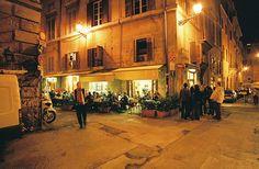 Baffetto Pizzeria in Rome's Pantheon neighbourhood. Stayed just around the corner. Yum.