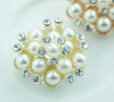 Lo 015 22mmMetal Rhinestone Button With Pearl Wedding Embellishment  Crafting Diy Accessory Factory From China  99a37ab7deda