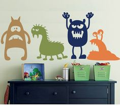 Wall Decal MONSTERS - Childrens Wall Decal on Etsy, $45.34 CAD