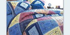 There Is So Much You Can Do With Bandanas! Bandanas are great for quick quilts. There are so many lovely colors available and many ways to quickly stitch them together into quilt tops. Plus, they're 100% cotton and very inexpensive. Just be sure to wash the bandanas first as they do shrink and and the …