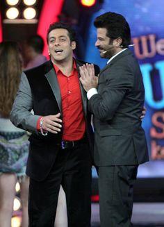Salman Khan and Anil Kapoor on Bigg Boss Bollywood Actors, Bollywood Fashion, Salman Khan Wallpapers, Salman Khan Photo, Big Big, Latest Pics, Boss, Handsome, Asian