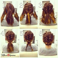 Beautiful way to do hair. You could just leave it at step four.
