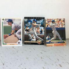 Eric Karros Mike Piazza Los Angeles Dodgers Baseball Cards Fleer  #LosAngelesDodgers