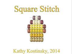 Square stitch. Beading cartoon - YouTube