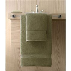 Kassa Design Egyptian Cotton Bath Towels are affordable and durable yet  incredibly plush, soft and absorbent.  Shown: Moss (Green).  Collection starting at $5.95