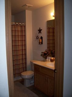 country primitive bathroom | Primitive Country Bathroom, This is the main bathroom of our home. I ...