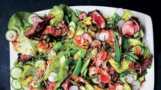 Steakhouse Salad with Red Chile Dressing and Peanuts Recipe Cajun Chicken Salad, Peanut Recipes, Keto Recipes, Best Salad Recipes, Drink Recipes, Pasta Primavera, Rice Vinegar, How To Make Salad, Stuffed Hot Peppers