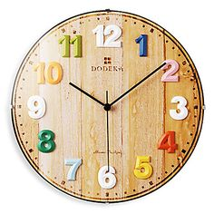 "12"" Pastorable Colorful Arabic Numerals Glass Wall Clock – AUD $ 58.04"