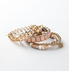 This is me.. NOW! love, love, love it!   Loft - Women's Jewelry: Earrings, Necklaces, Bracelets, Fashion Jewelry: LOFT - Stretch Beaded Bracelet Set