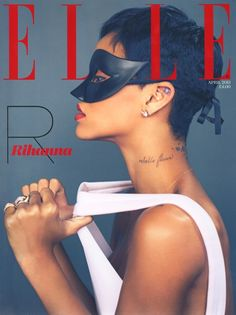 Rih Rih // Elle Magazine cover (I think its the UK April 2013 edition right??)