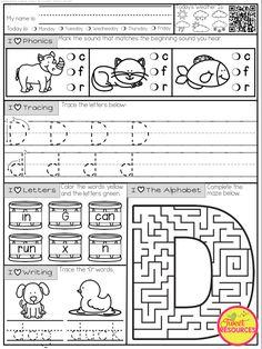 Kindergarten Schedule, Kindergarten Workbooks, Kindergarten Homeschool Curriculum, Kindergarten Morning Work, Preschool Writing, Teaching Kindergarten, Homeschooling, Letter O Worksheets, Phonics Worksheets