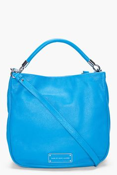 Too Hot To Handle Electro Blue Hobo Bag