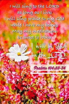 PSALM 104:33 -34