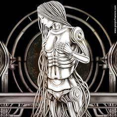 virgo by giorgio finamore Virgo Art, Zodiac Signs Virgo, Illustration Art, Illustrations, Traditional Art, Astrology, Modern Art, Sculptures, Statue