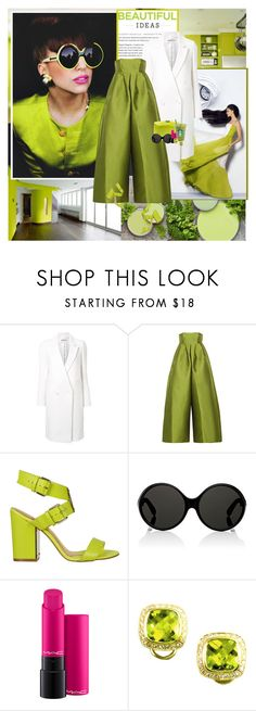 """""""Lady Gaga : )"""" by thisiswhoireallyam7 ❤ liked on Polyvore featuring WALL, Taro Horiuchi, Merchant Archive, Ted Baker, Yves Saint Laurent, MAC Cosmetics, Buccellati, beautiful, neon and GREEN"""