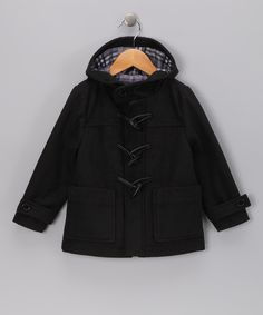 Urban Republic Black Toggle Coat - Toddler & Boys