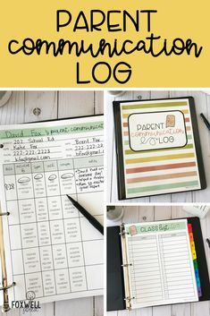 Parent Communication Log - everything you need to stay organized! Parent Teacher Communication, Parent Teacher Conferences, Parent Notes, First Year Teachers, Parents As Teachers, Online Parenting Classes, Teacher Organization, School Counseling, Parenting Plan