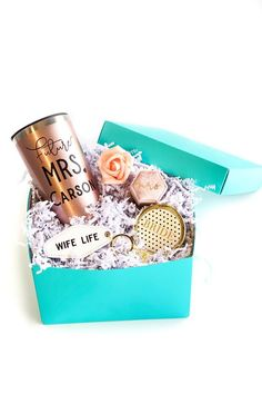 Looking for a personalized engagement gift? We have a perfect gift for engagement party! Let's show the Future Mrs some love with this personalized engagement gift box - it's the perfect gift for the bride-to-be! This engagement gift for the bride is one she'll love! She'll love the Future Mrs tumbler, the engagement ring box & bride gifts as a bridal shower gift. You can ship this engagement gift idea directly to the new bride to be! #engagementgift #engagementgiftbox #giftforthebride Bridesmaid Proposal Box, Bridesmaid Gifts, Bridesmaid Ideas, Bridal Shower Gifts, Bridal Gifts, Personalized Wedding Gifts, Handmade Wedding, Engagement Gift Boxes, Engagement Ring