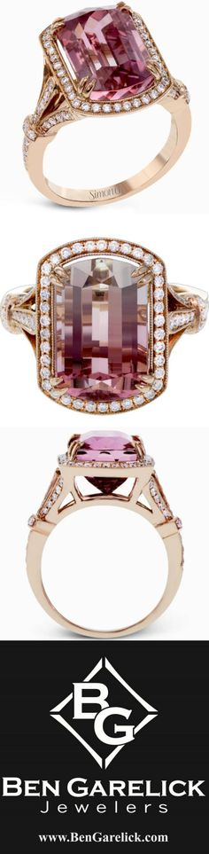Stunning Watermelon Tourmaline set in Rose Gold from Simon G. Follow Ben Garelick to add sparkle to your day!!!