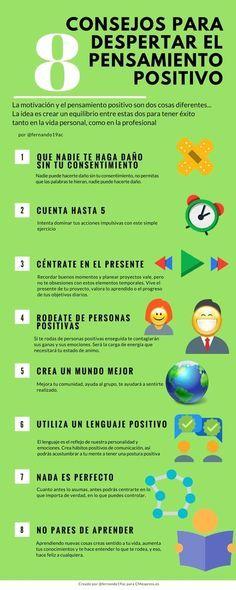 8 consejos para despertar el pensamiento positivo. Hábitos para el éxito.