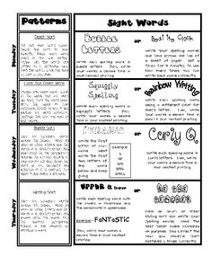 Word Work Ideas-Free!  Grades 1-6.