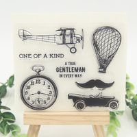 Aircraft Airship Transparent Clear Silicone Stamps for DIY Scrapbooking/Card Making/Kids Crafts Fun Decoration Supplies