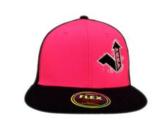 Decky Fitted FLEX is a constructed baseball cap and features versatile Flex Fitting and a retro flat bill. Clothing Company, Bmx, Snowboarding, Baseball Cap, Skateboard, Neon, Retro, Fitness, Pink