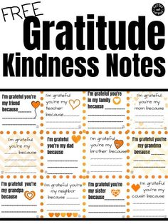 These gratitude notes are printables perfect for helping kids focus on what they're thankful for this November (although these gratitude notes are also perfect for anytime of the year). Tell your family, friends and teachers why you're thankful for them and spread some kindness this fall. #kindness #kindnessactivities #kindnessactivitiesforkids #fallactivities #Thanksgiving #Thanksgivinggratitude #gratitude #thankful #teachkidstobegrateful #printables Kindness Notes, Kindness For Kids, My Children Quotes, Quotes For Kids, Gratitude Quotes, Positive Quotes, Kindness Activities, Writing Activities, Mindfulness For Kids