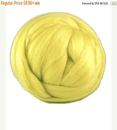 SALE Super-fine Merino wool 19 microns, Color: Citron